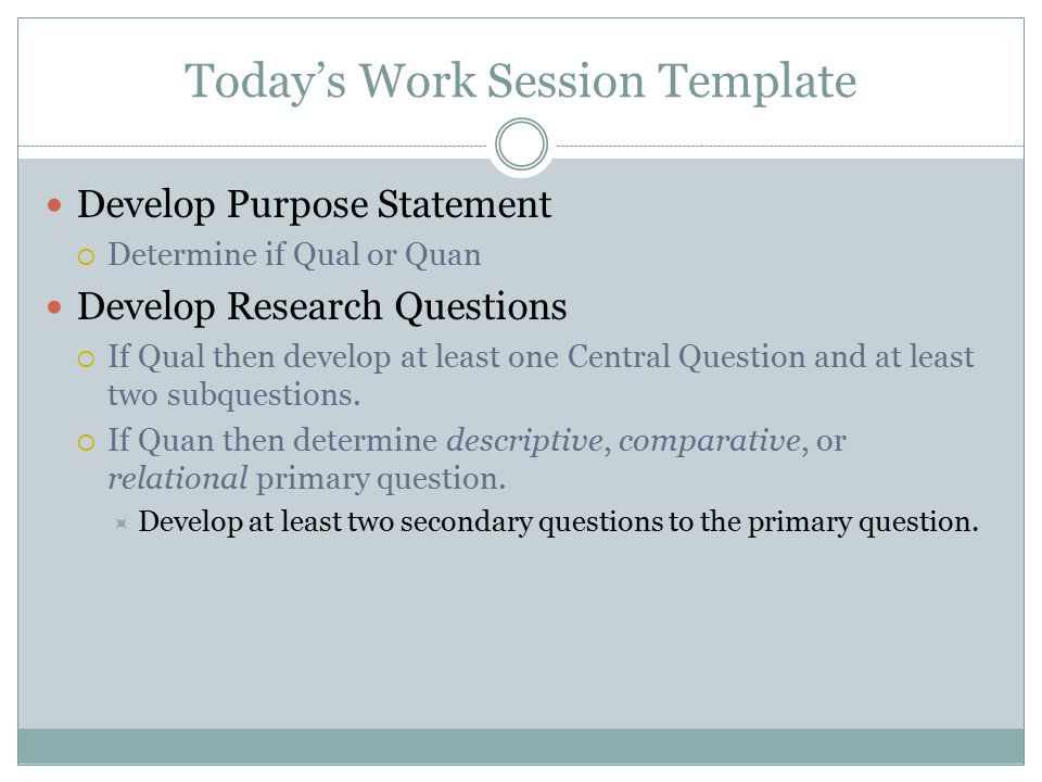 Today's Work Session Template