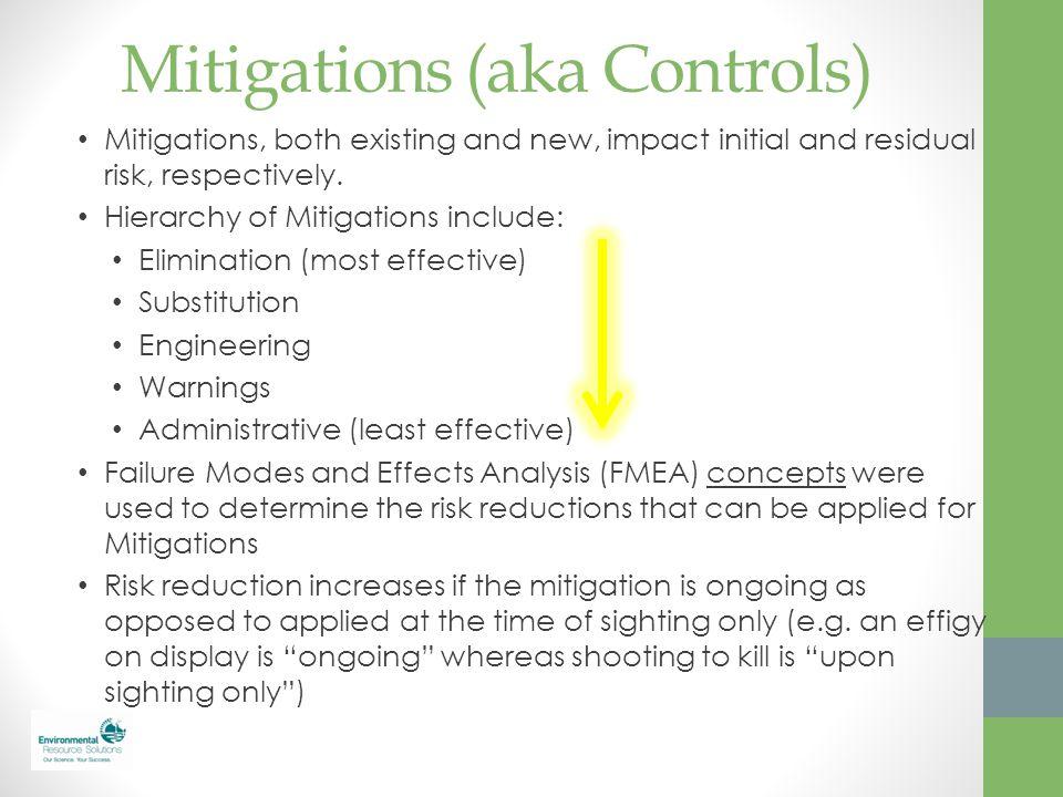 Mitigations (aka Controls)