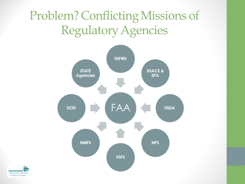 Problem Conflicting Missions of Regulatory Agencies
