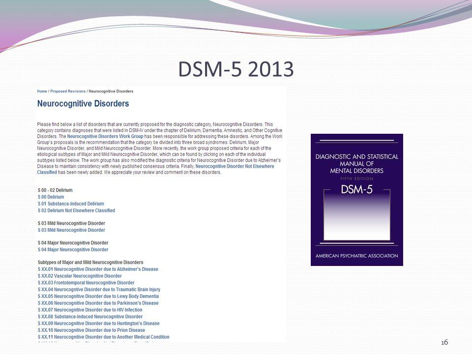 DSM-5 2013