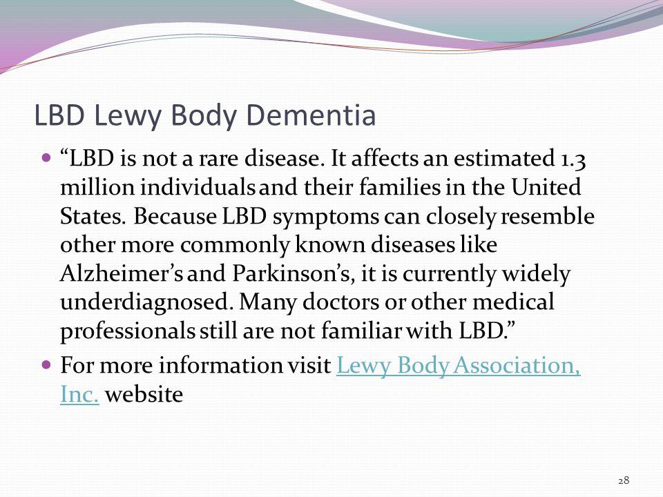 LBD Lewy Body Dementia