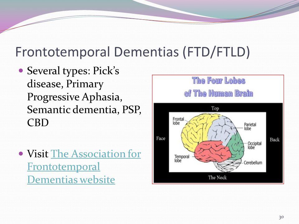 Frontotemporal Dementias (FTD/FTLD)