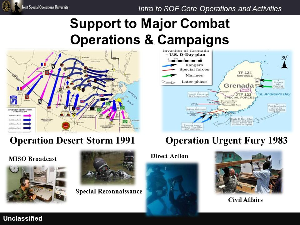 Support to Major Combat Operations & Campaigns
