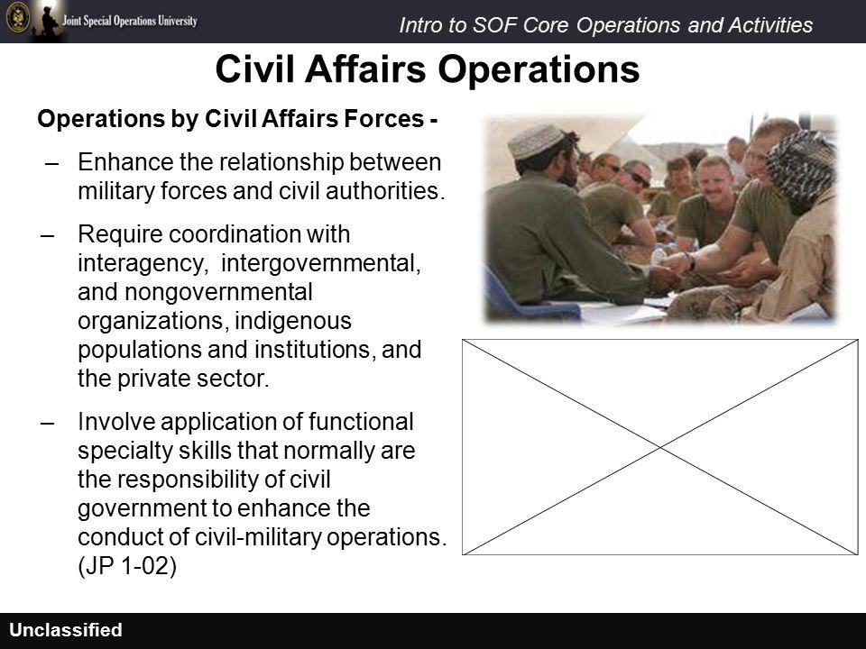 Civil Affairs Operations