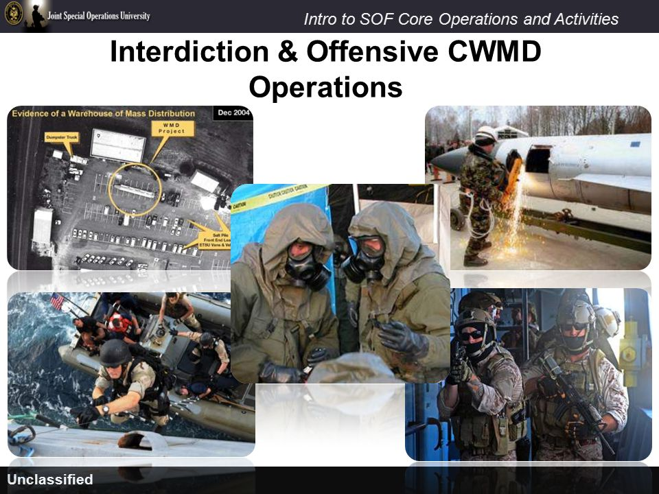 Interdiction & Offensive CWMD Operations