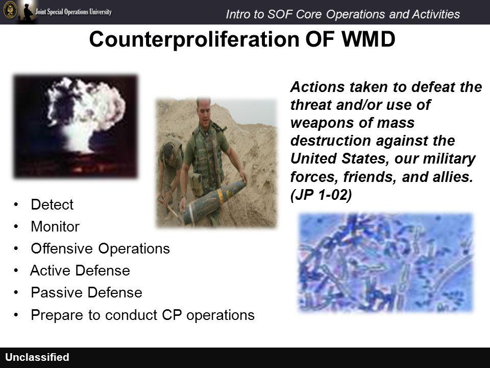Counterproliferation OF WMD