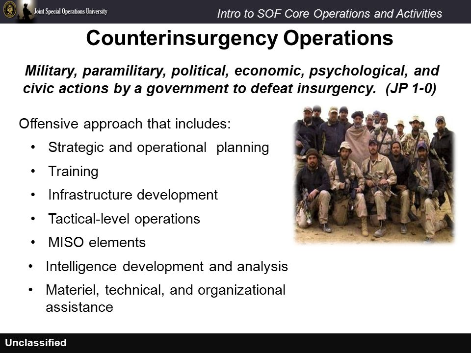 Counterinsurgency Operations