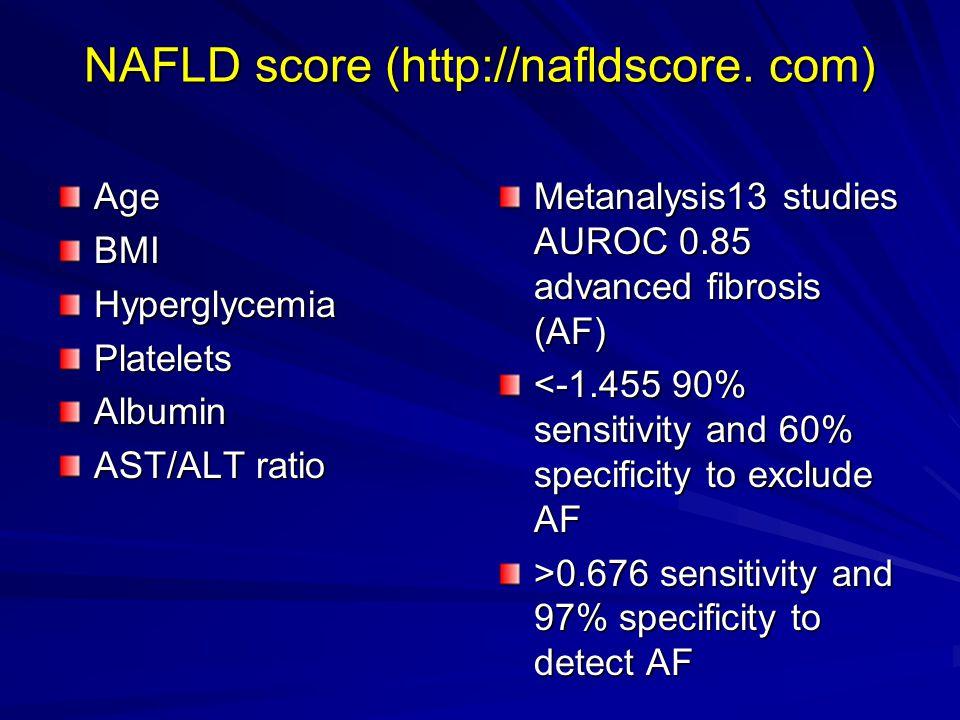 NAFLD score (http://nafldscore. com)