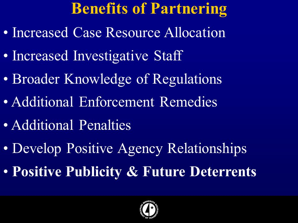Benefits of Partnering