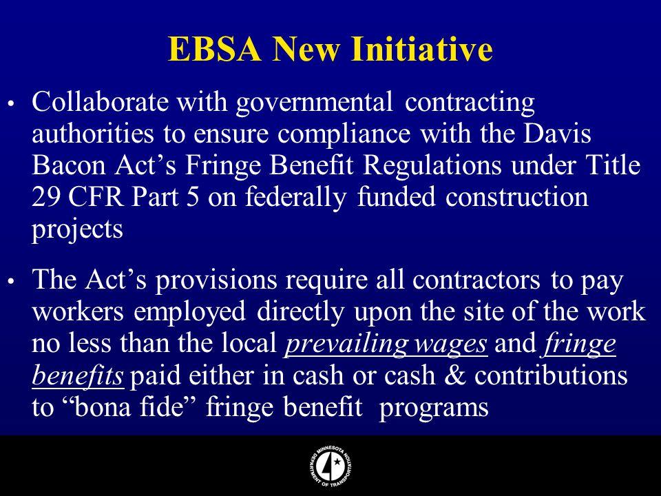 EBSA New Initiative