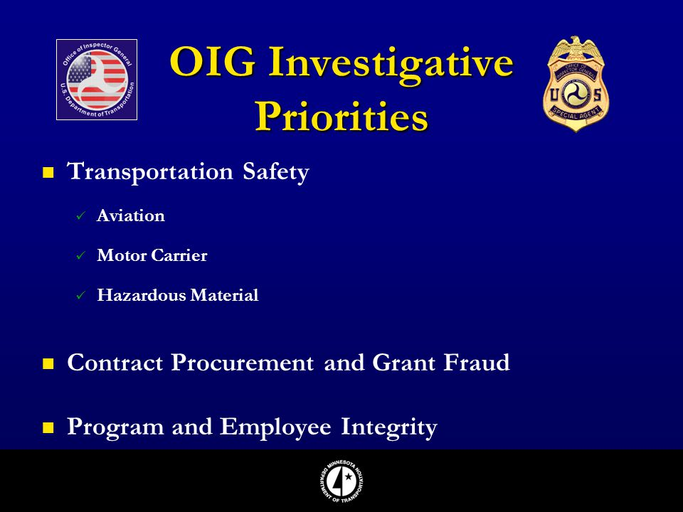 OIG Investigative Priorities