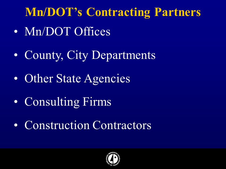 Mn/DOT's Contracting Partners