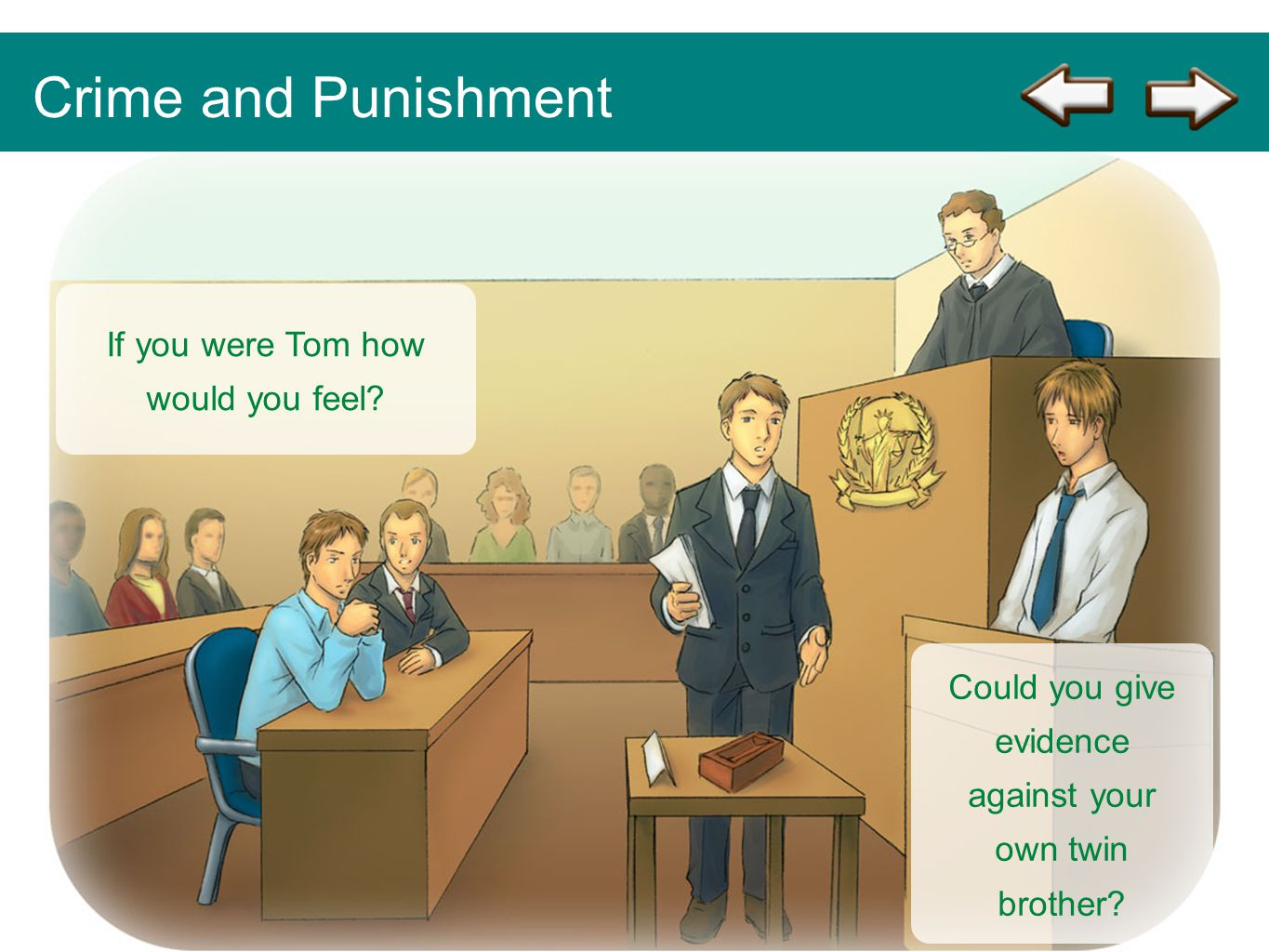 Crime and Punishment If you were Tom how would you feel
