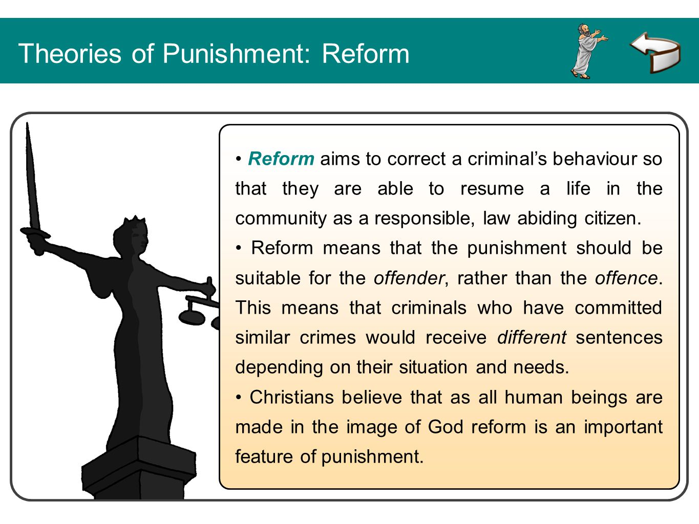 Theories of Punishment: Reform