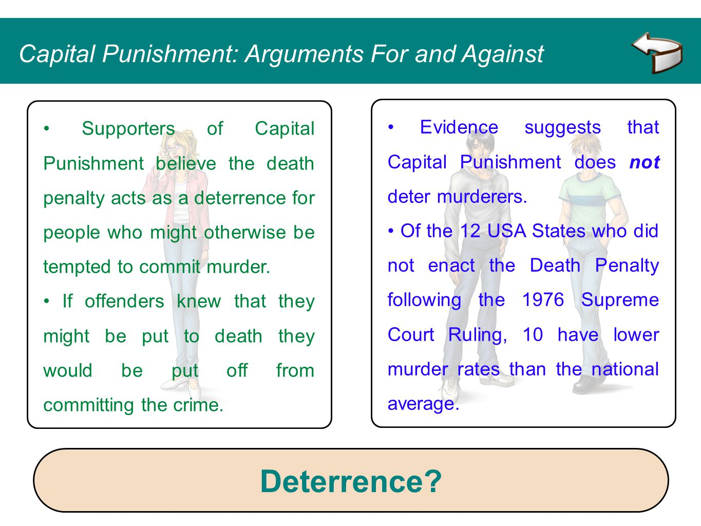 Deterrence Capital Punishment: Arguments For and Against