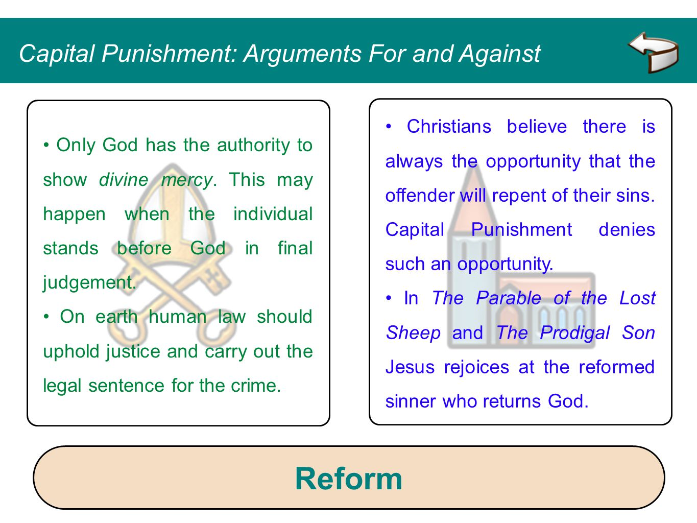Reform Capital Punishment: Arguments For and Against