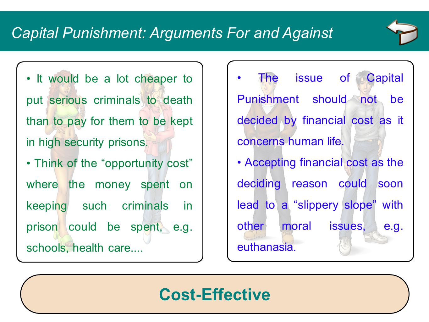 Cost-Effective Capital Punishment: Arguments For and Against