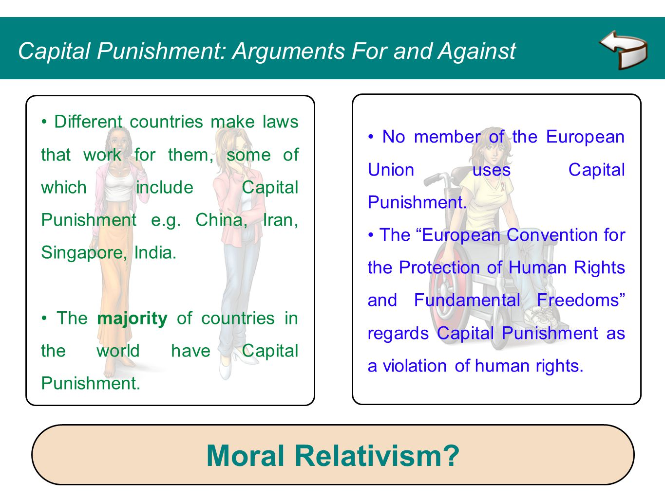 Moral Relativism Capital Punishment: Arguments For and Against