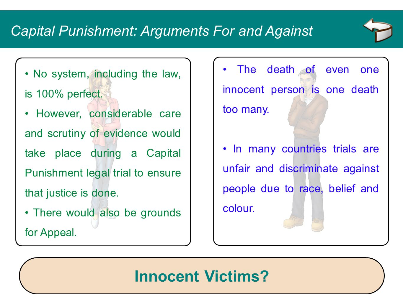 Innocent Victims Capital Punishment: Arguments For and Against