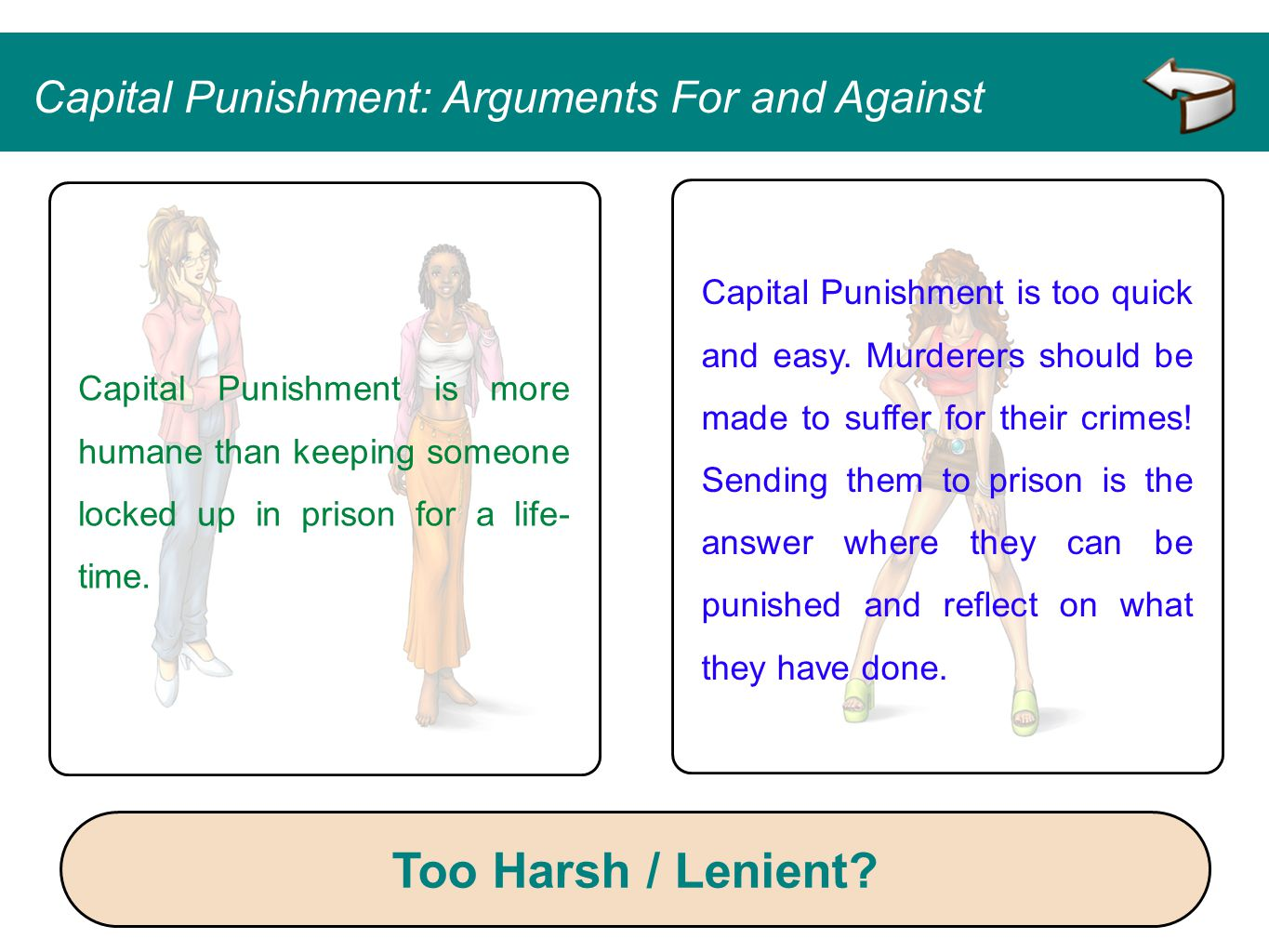 Too Harsh / Lenient Capital Punishment: Arguments For and Against
