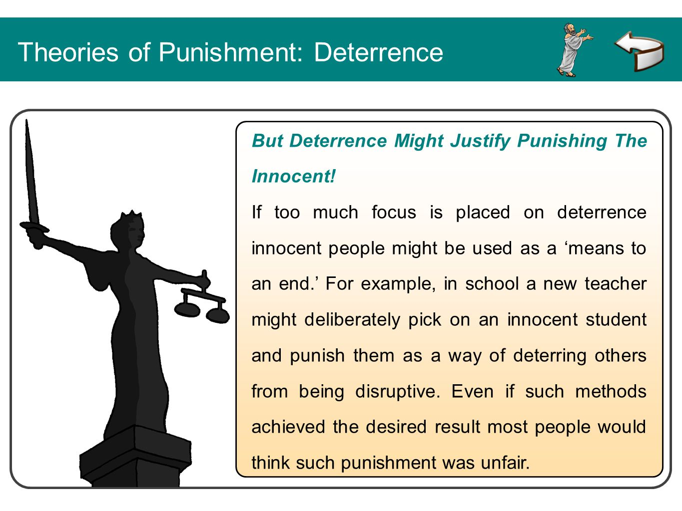Theories of Punishment: Deterrence