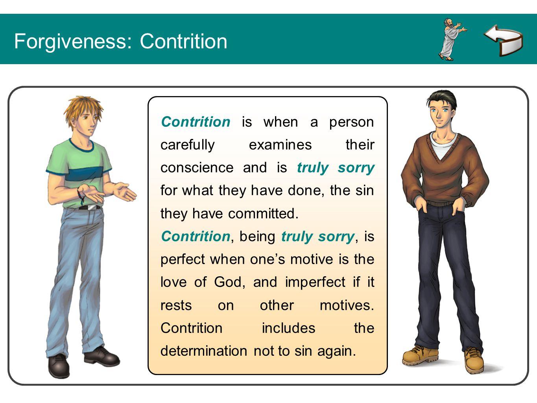 Forgiveness: Contrition