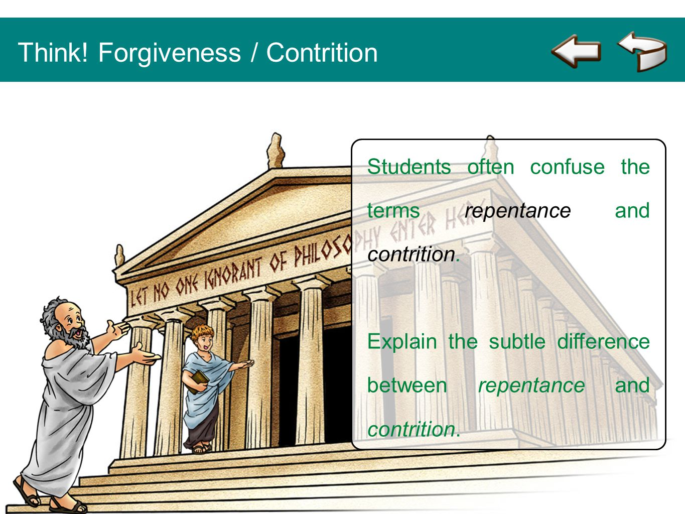 Think! Forgiveness / Contrition