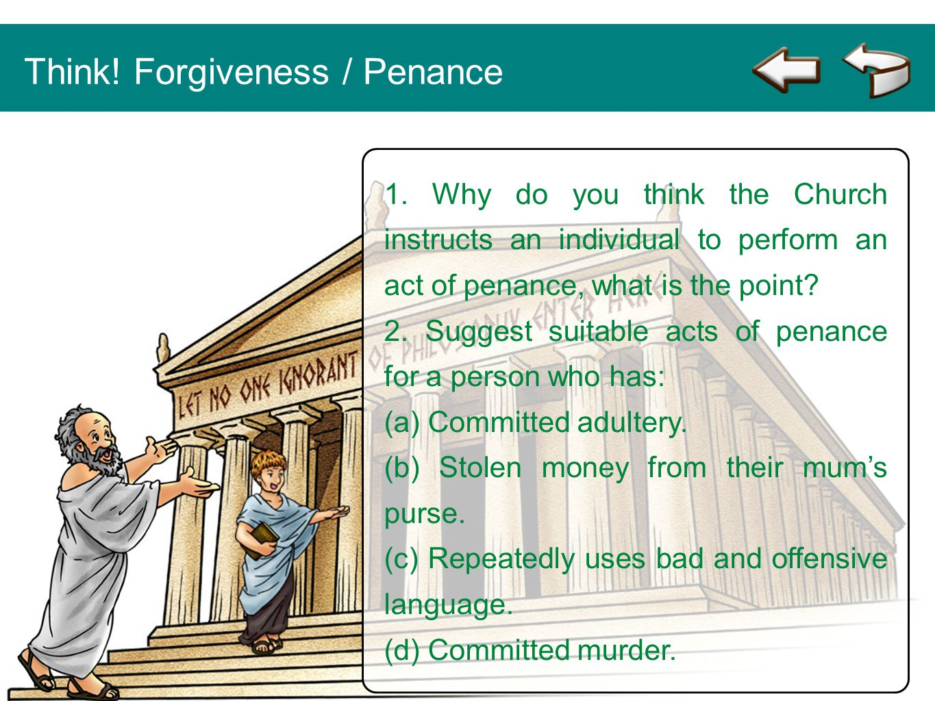Think! Forgiveness / Penance