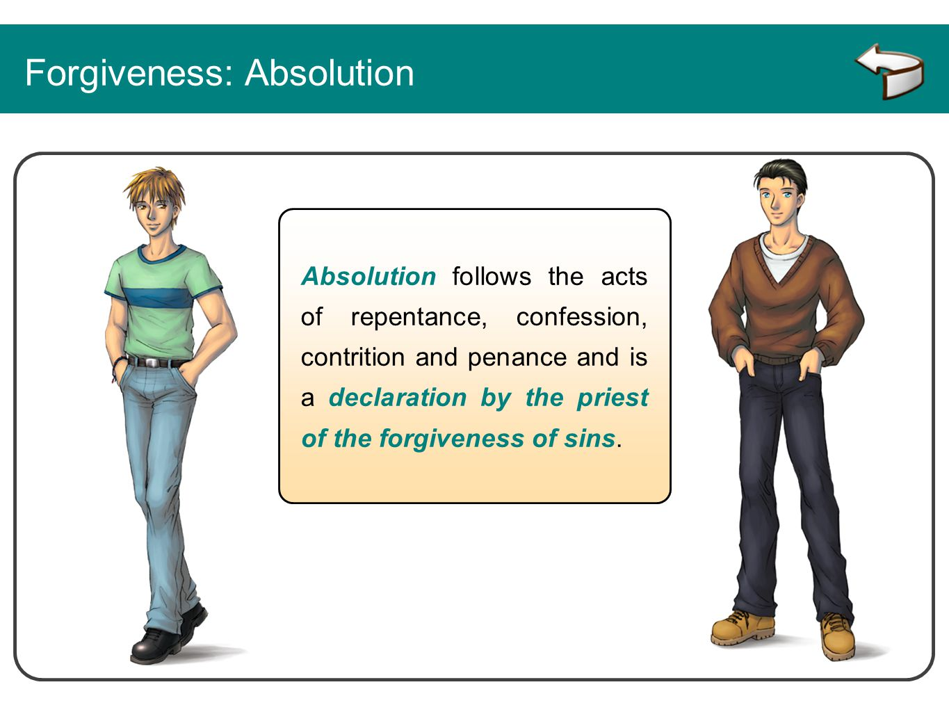 Forgiveness: Absolution
