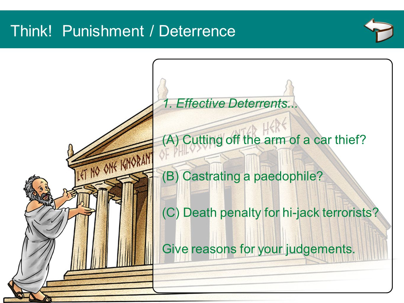 Think! Punishment / Deterrence