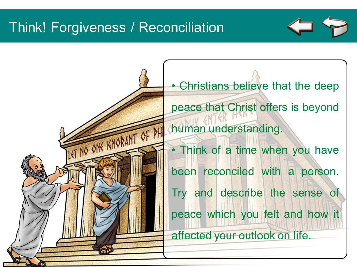 Think! Forgiveness / Reconciliation