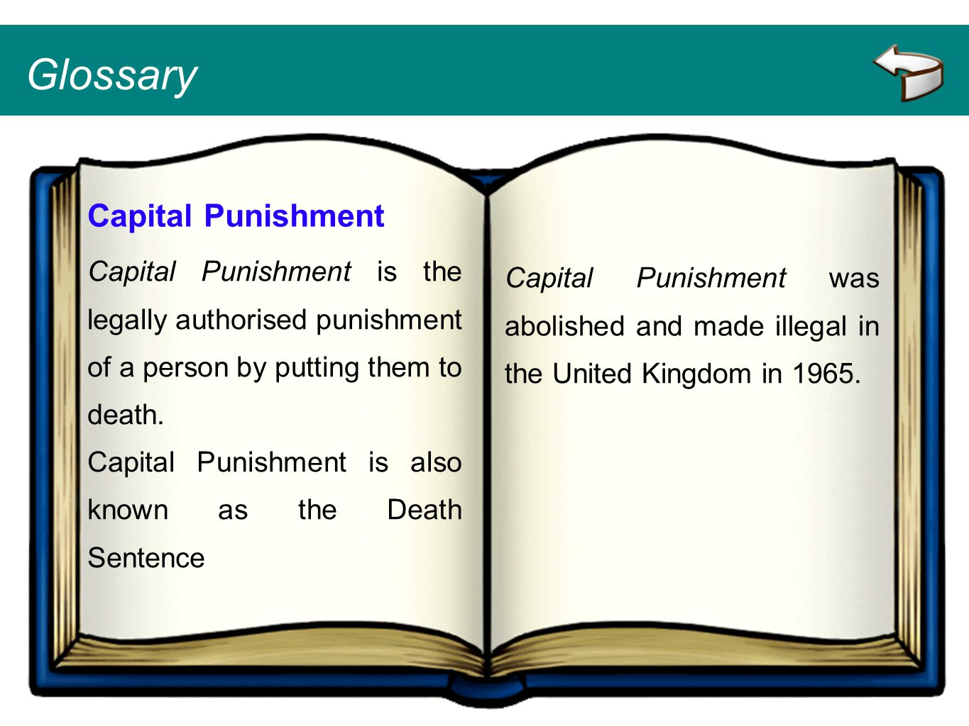 Glossary Capital Punishment