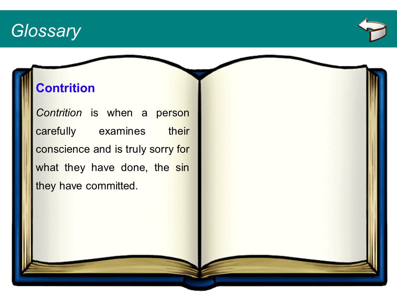 Glossary Contrition.