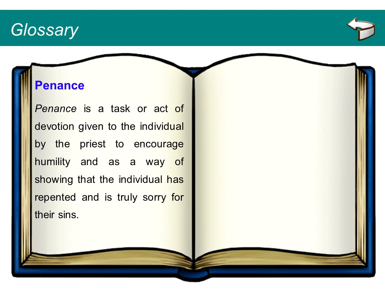 Glossary Penance.