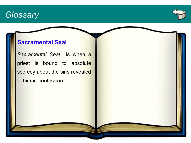 Glossary Sacramental Seal
