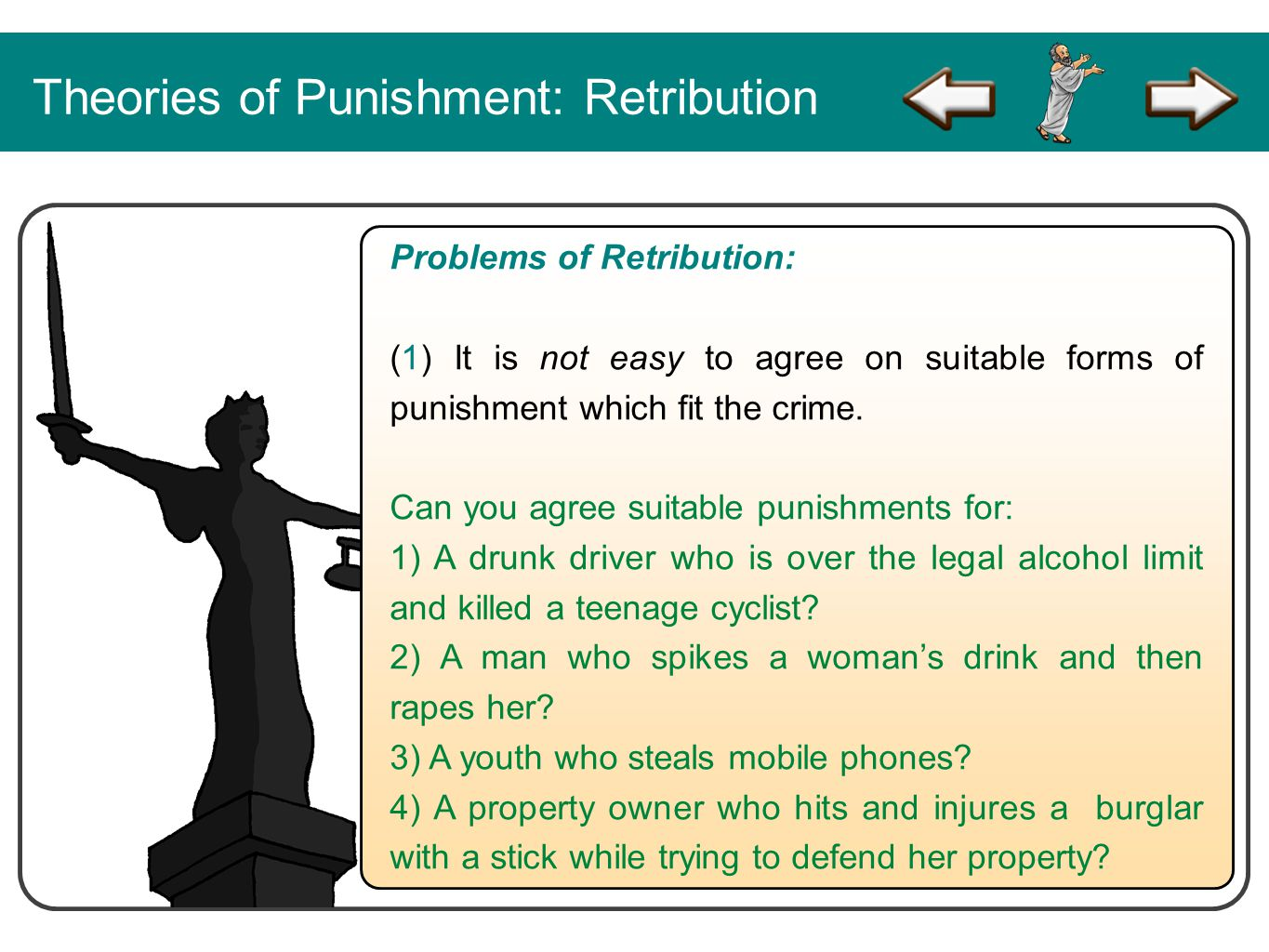 Theories of Punishment: Retribution