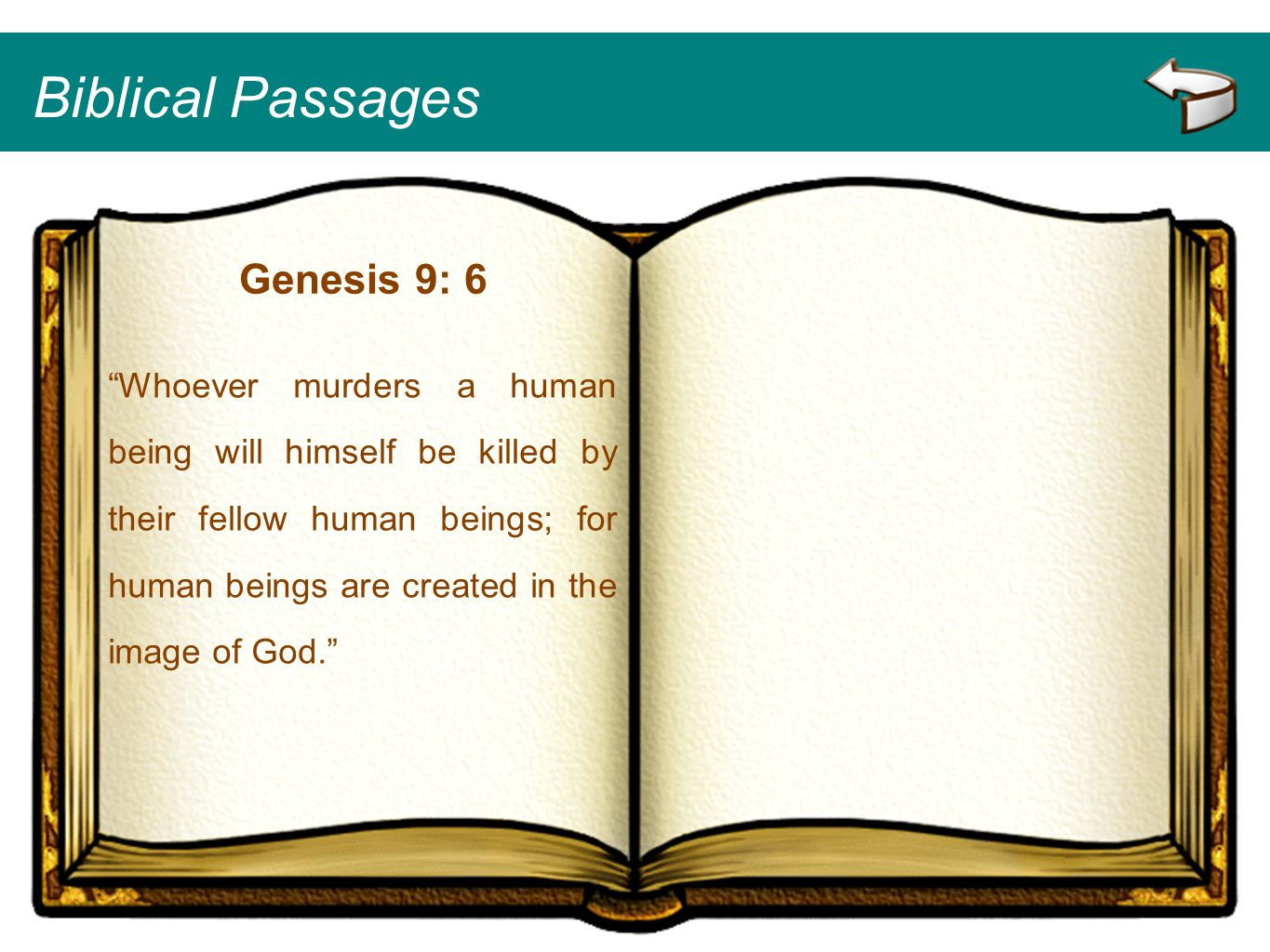 Biblical Passages Genesis 9: 6