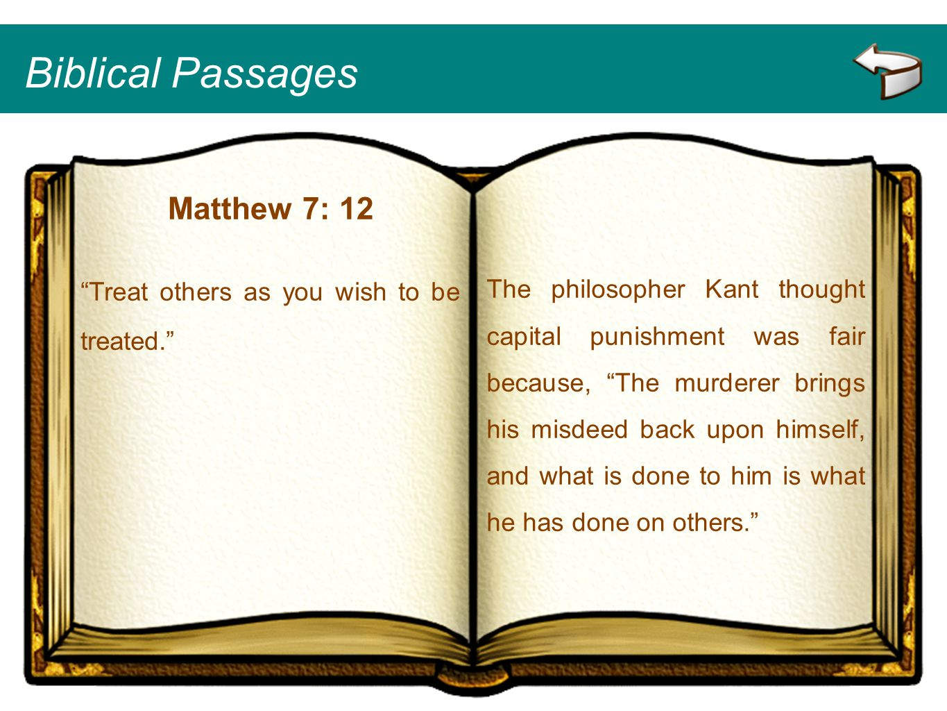 Biblical Passages Matthew 7: 12