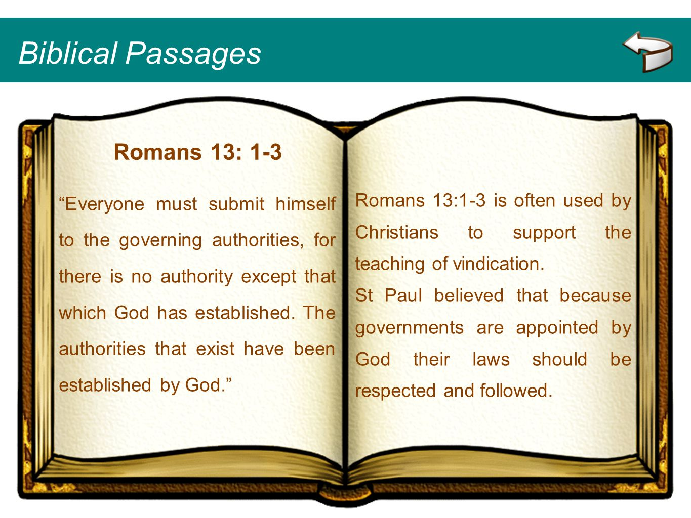 Biblical Passages Romans 13: 1-3