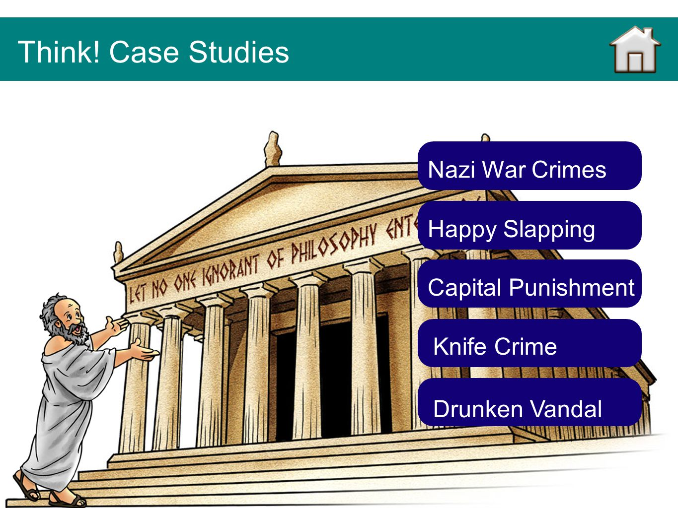 Think! Case Studies Nazi War Crimes Happy Slapping Capital Punishment
