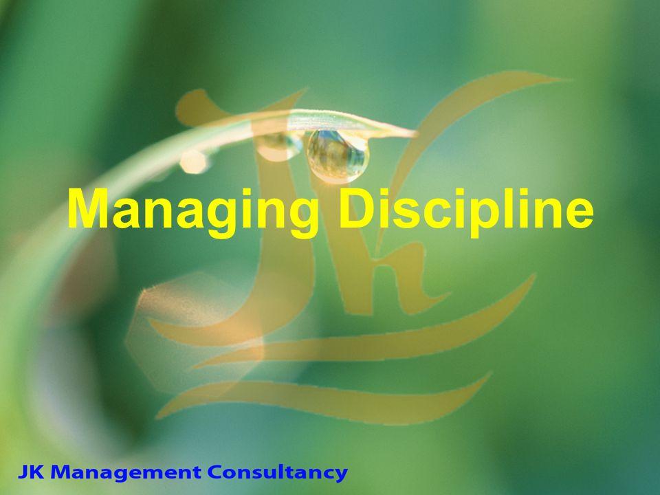 Managing Discipline