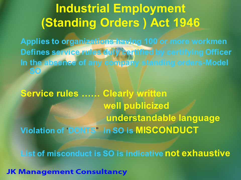 Industrial Employment (Standing Orders ) Act 1946