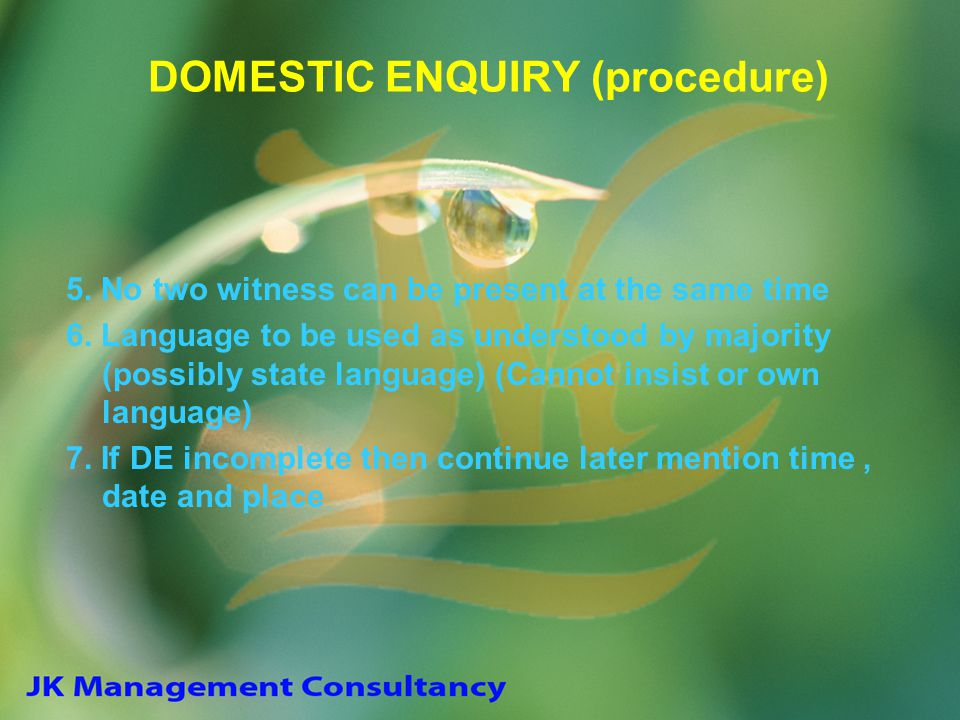 DOMESTIC ENQUIRY (procedure)
