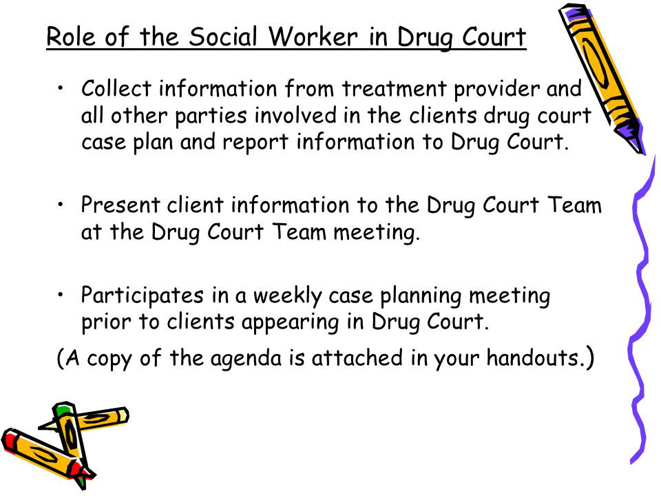 Role of the Social Worker in Drug Court