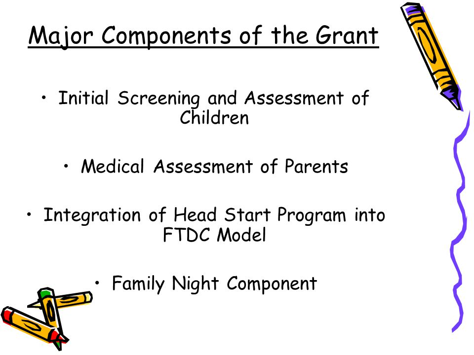 Major Components of the Grant