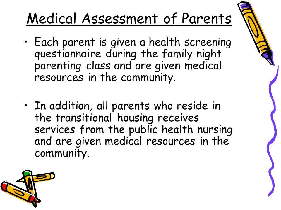 Medical Assessment of Parents