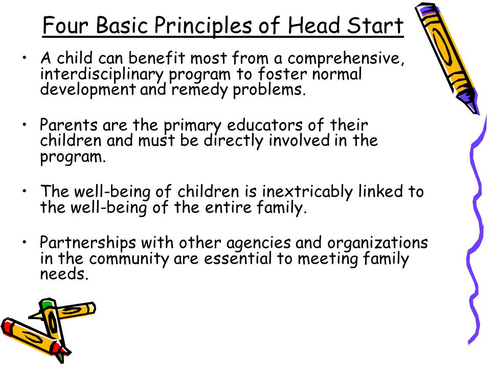 Four Basic Principles of Head Start