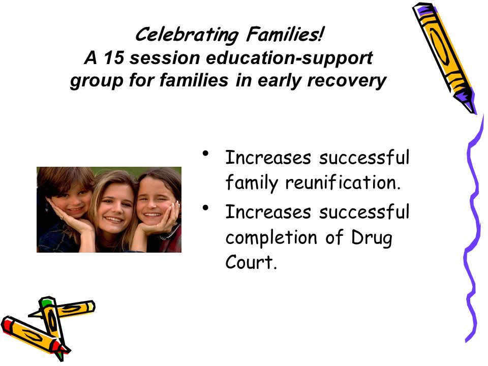 Celebrating Families! A 15 session education-support group for families in early recovery