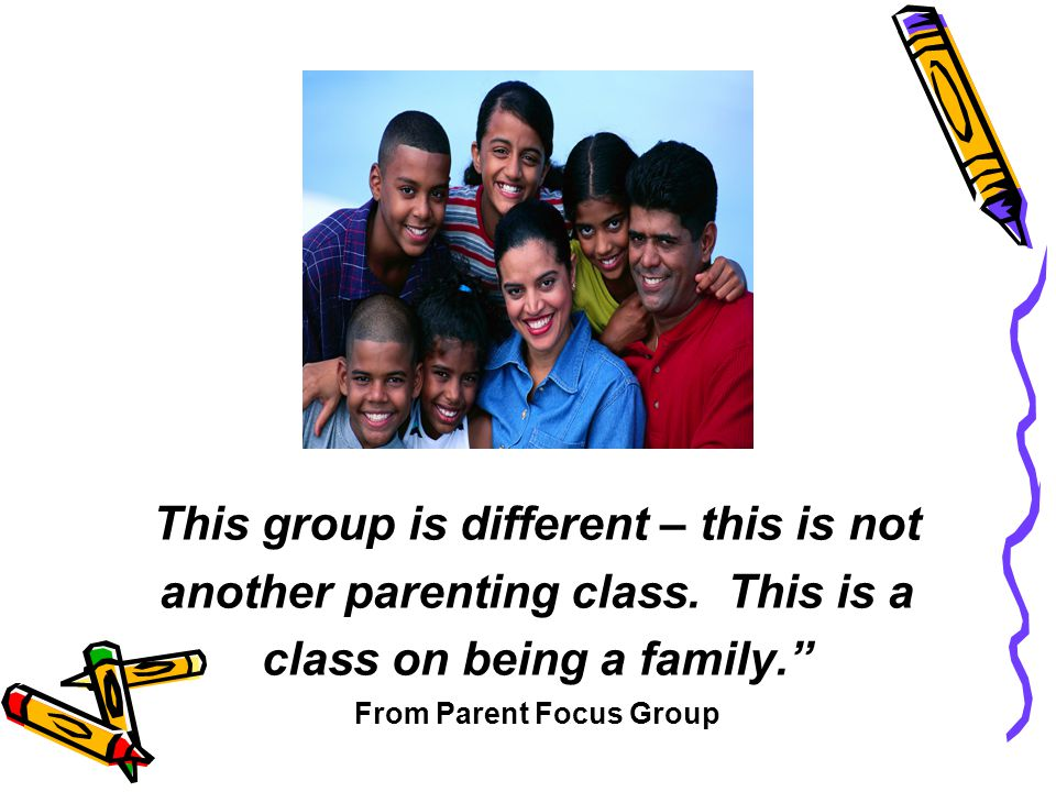 This group is different – this is not another parenting class