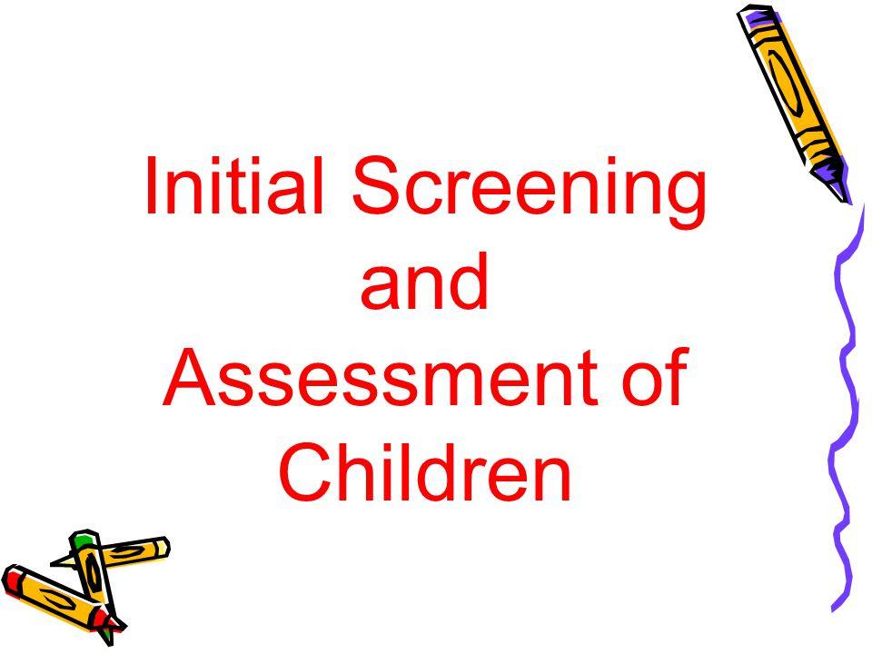 Assessment of Children